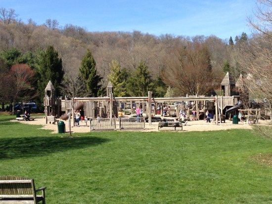 """Newark, OH: Wooden Playground """"Castle"""""""