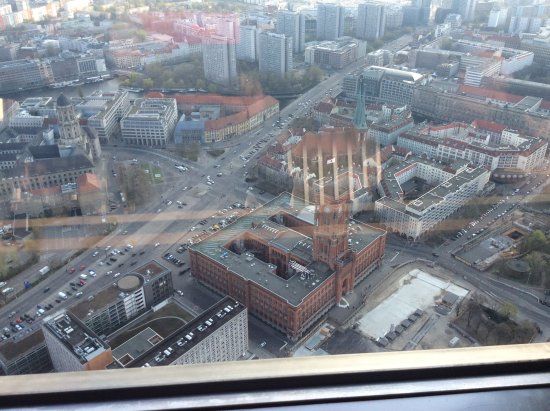 View From Revolving Tower Restaurant T V Tower Berlin Bild Von
