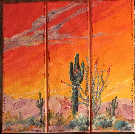 Wickenburg, AZ: Our unique desert landscape painting.