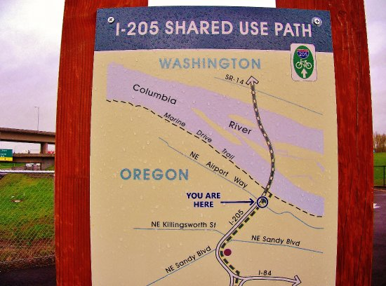 Orchards, WA: Map for pedestrians and bicycles