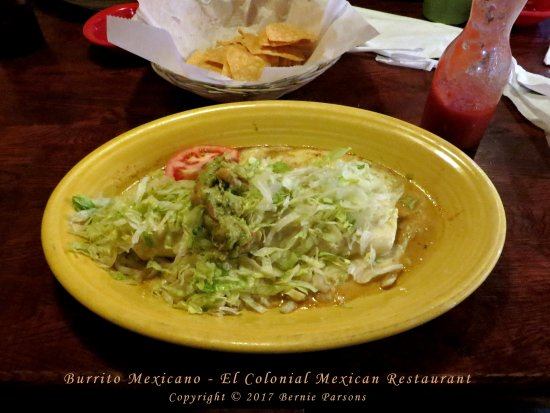 Ashland, KY: Burrito Mexicano, an excellent choice.