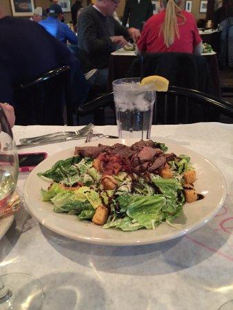Rib & Chop House: Caesar Salad with Sliced Sirloin