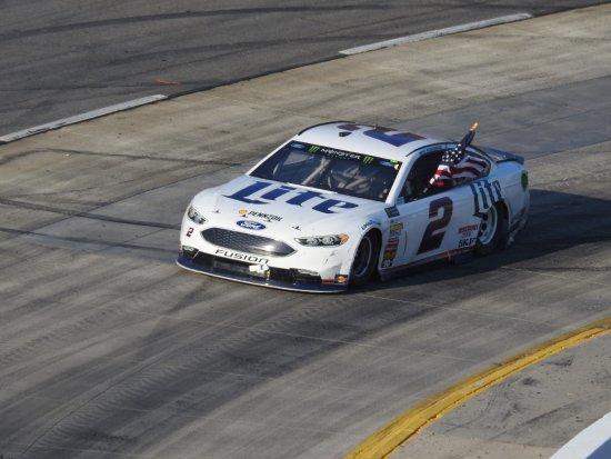 Martinsville, VA: Brad Keselowski on victory lap