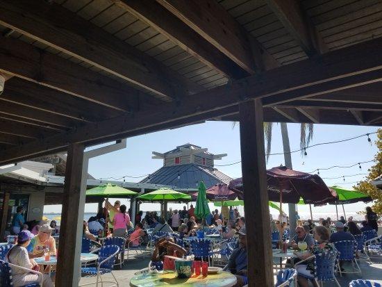 Ruskin, FL: Patio and Tikki bar