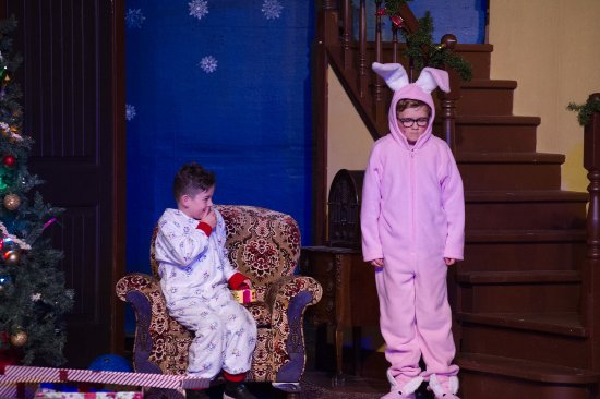 a christmas story dec 2016 kelowna actors studio the infamous pink bunny suit