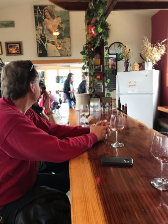 Independence, OR: Inside the gallery at Redgate Vineyard