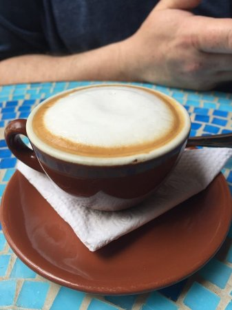 Allegro Caffe: Huge traditional macchiato. Yes, this is an ESPRESSO with cream on top, not a frou-frou drink. L