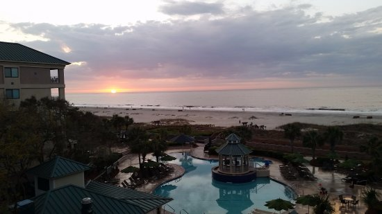 Marriott's Barony Beach Club: Late March Sunrise over Atlantic Ocean