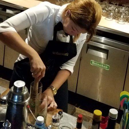 Club Havana: She is NOT making a salad! The Mojito