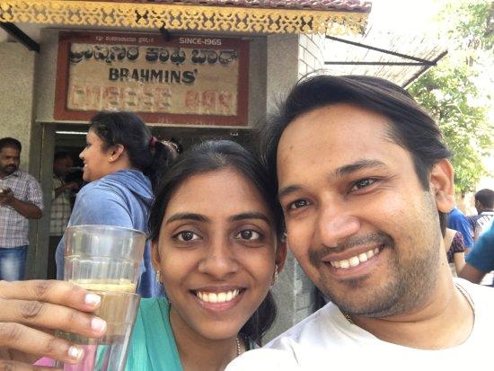 Brahmin's Coffee Bar: Me and my Wifey