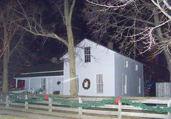 Crossroads Village & Huckleberry Railroad: All the buildings get gussied up at Christmas!