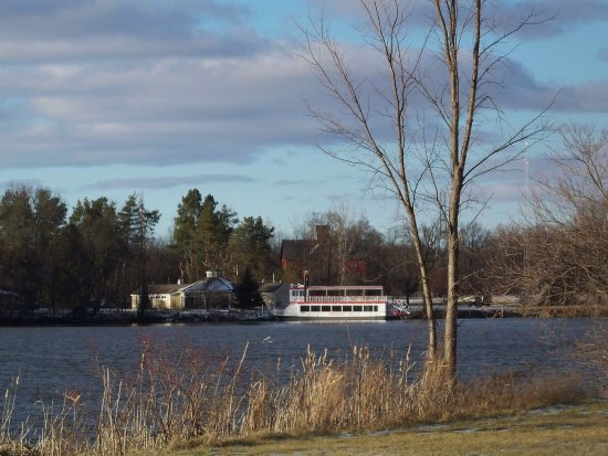 Crossroads Village & Huckleberry Railroad: The Genesee Belle cruises Mott Lake in the summer and fall and also for luncheon cruises!