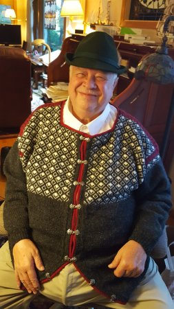 Country Inn & Suites By Carlson, Ocala: Hand knit Norwegian Viking ski sweater.