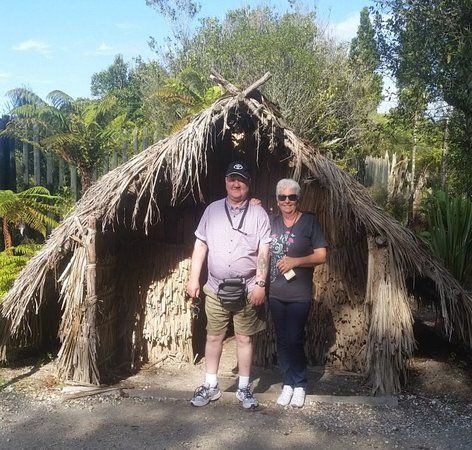 Amazing Day Tours: Wife & I at the Geothermal Village in Rotorua