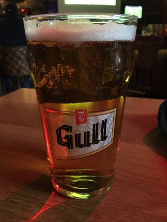American Style Diner: Pint of Gull beer