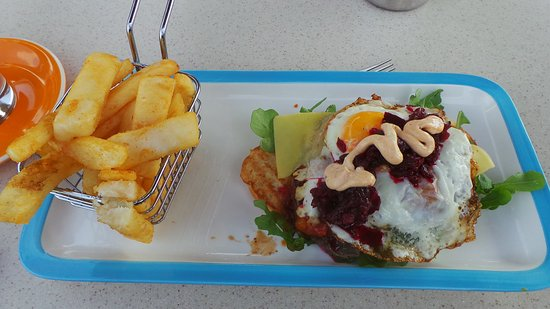 Bridport, Australien: Open Steak Sandwich