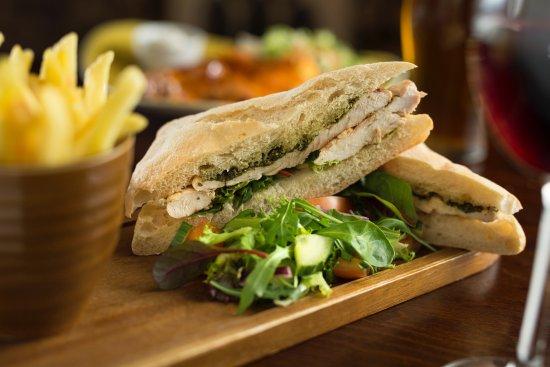 Great Ayton, UK: Freshly made sandwiches