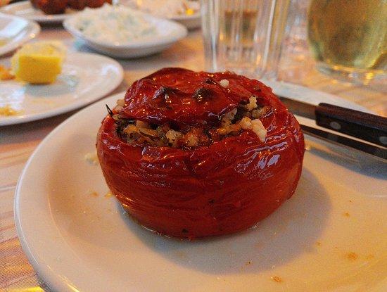 Agia Fotia, Greece: tomate farcie