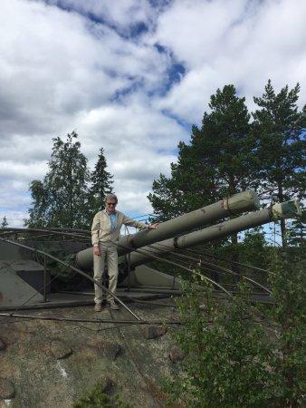 Härnösand, Suecia: Hemsö fästning - ett riktigt kanonställe