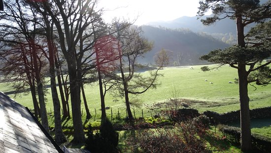 The Borrowdale Gates Hotel: From our room, beautiful scenery in all directions