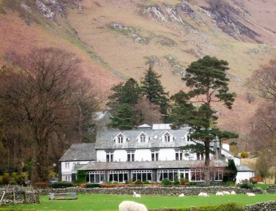 The Borrowdale Gates Hotel: The Hotel from the village road