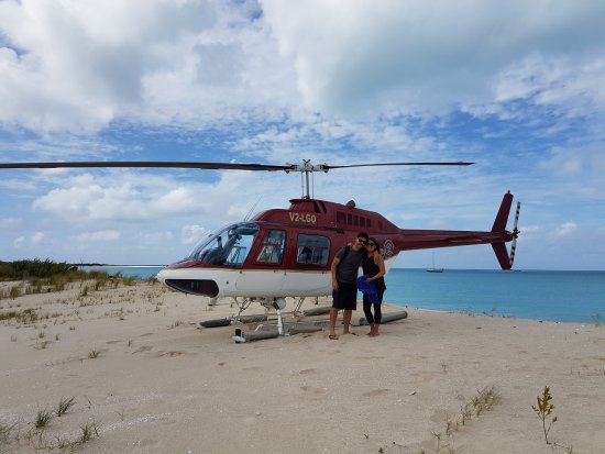 Caribbean Helicopters: Landing on Barbuda