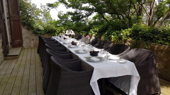 La Pomarede, Франция: La terrasse