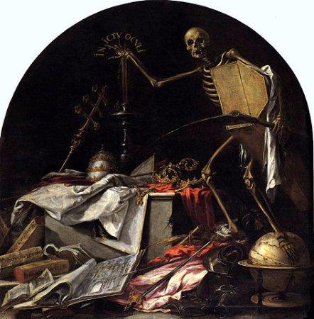 """Iglesia de la Caridad: Cuadro de Valdés Leal, """"In ictu oculi"""": en un abrir y cerrar de ojos llega la muerte..."""