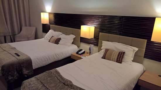 Cork International Hotel: Double and Single bed in room.