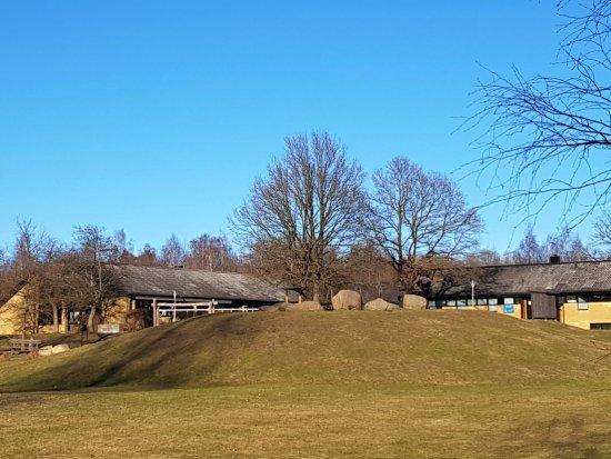 Lund, Sweden: Utsikt mot restaurangen och Actic gym