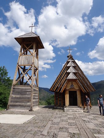 Kustendorf: Wooden church of Saint Sava in Drvengrad village