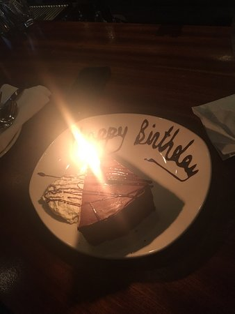 Atlantic Fish Company: Free bday slice! We didn't even tell them in the bar. They overheard it was my BF  bday! Super n