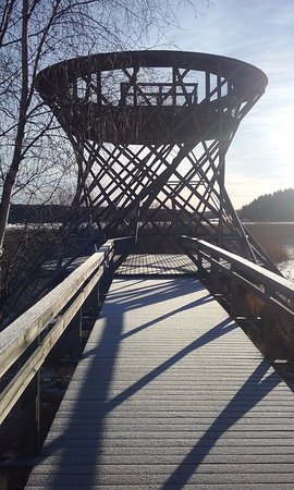 Siuntio, Finlande : look out on trail