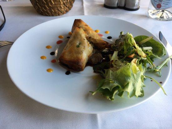 La Table du Marche : カニの春巻き。大変美味しかったが、量が少ない。