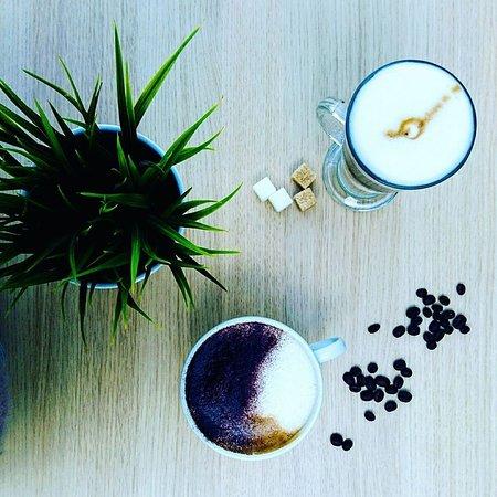 Polzeath, UK: latte and cappuchino
