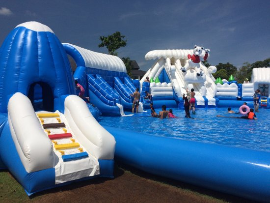 chill cove treasure bay bintan inflatable water slides