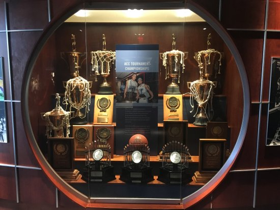 The Carolina Basketball Museum ACC Championship Trophies