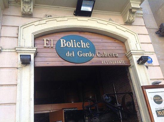 El Boliche del Gordo Cabrera: Fachada del restorán.