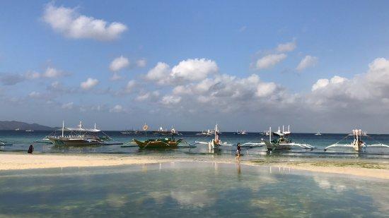 White Beach de Boracay: Boracay white beach  2017 mars 19 en underbar ö med coral dykning och en kanonbeach...👍🏖🏖