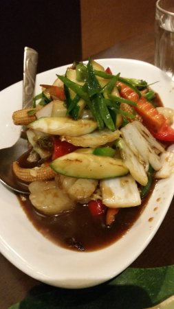 Chermside, Australien: scallops with vegies in soya sauce