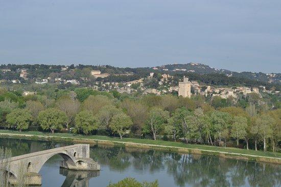 Kyriad Avignon - Palais Des Papes : Le Pont d'Avignon, from gardens beyond the Palace