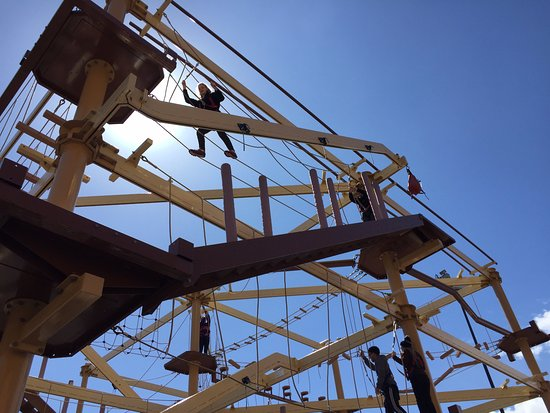 Cave of the Winds: The excitement of a 3-story ropes course!