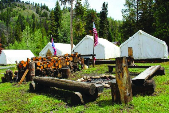 Alpine, WY: Overnight camping is also available.