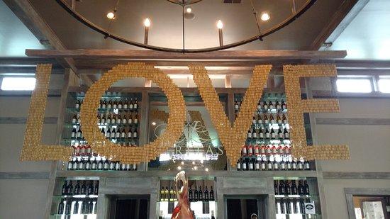 Afton, VA: Love sign.