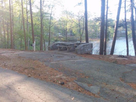 Stone Mountain Family Campground: Stone Picnic Table