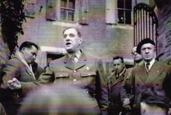 Le Général de Gaulle en visite au Château d'Ortaffa en1951