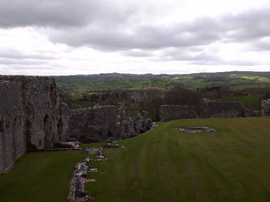 Denbigh, UK: From atop the castle walls