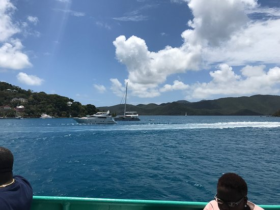 Road Town, Tortola: View from ferry leaving Red Hook.