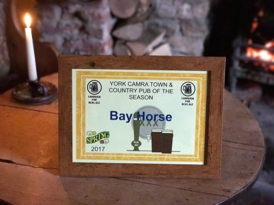 "Burythorpe, UK: We're so proud to be awarded York CAMRA ""Town & Country Pub of The Season""!"