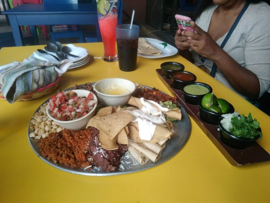 Tacontento: Platter of different types of tacos. Can't remember what it is called on the menu.